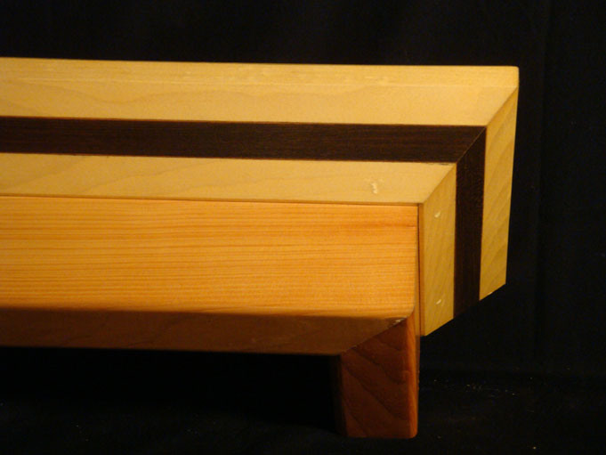 Hand Crafted Solid Wood Pine And Cherry Crown Molding Mitrick