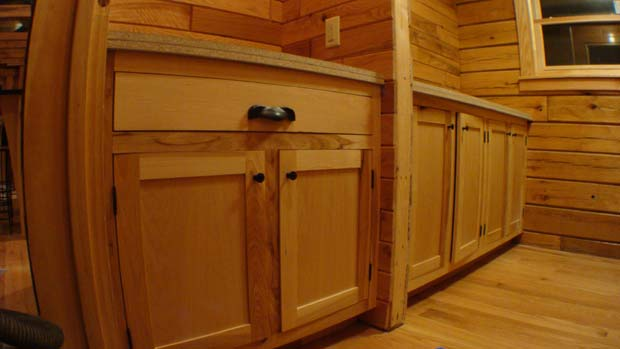 Hand Crafted Solid Hickory Bathroom Vanity Cabinets