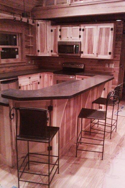 Hand Crafted Soild Hickory Kitchen Cabinets Hirschboeck