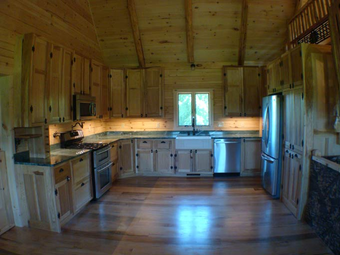 Hand crafted solid hickory kitchen cabinets izzo
