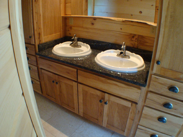 Hand Crafted Solid Maple Bathroom Vanity Izzo