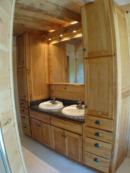Hand Crafted Solid Maple Bathroom Vanity Cabinets: Izzo