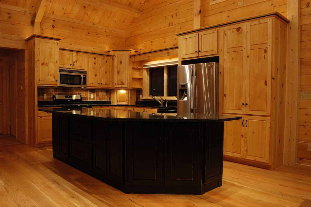 Hand crafted solid pine kitchen cabinets mitrick for Pine kitchen furniture