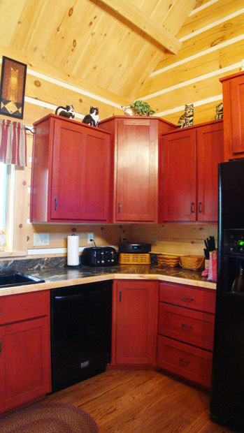 Hand Crafted Solid Cherry (Stained Cabin Red) Kitchen ...