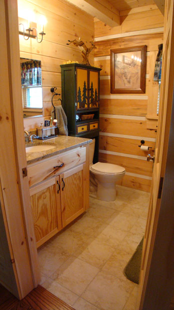 Hand Crafted Solid Pine Bathroom Vanity Shank